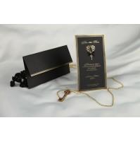 Vabilo - črno/grajsko - ključ