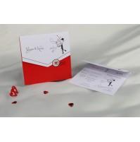 Vabilo - rdeče/pismo