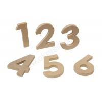 Oštevilčenje miz - lesena številka