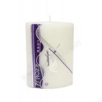 Poročna sveča - viola/golobček