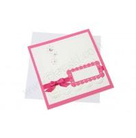Vabilo - pink/čipka