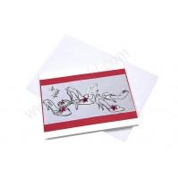 Vabilo - rdeče/poročni ženski čevlji