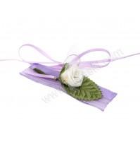 Poročna zapestnica - lila/vrtnica 1