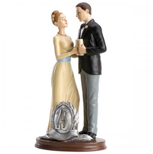 Poročna figura - ženin in nevesta/25 obletnica poroke