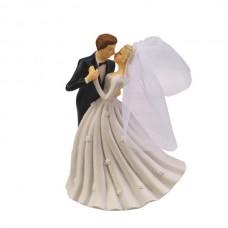 Poročna figura - ženin in nevesta - porcelan 02