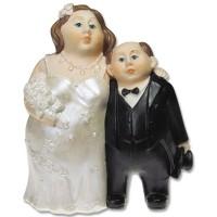 Poročna figura - ženin in nevesta - porcelan 01