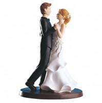 Poročna figura - ženin in nevesta - romantični ples