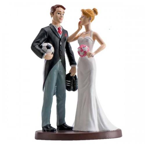 Poročna figura - ženin in nevesta - nogometaš 01