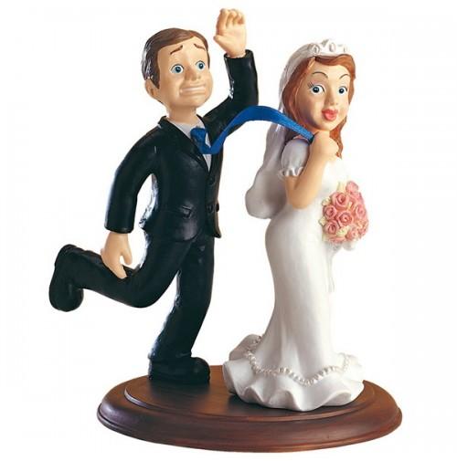 Poročna figura - smešen par 05