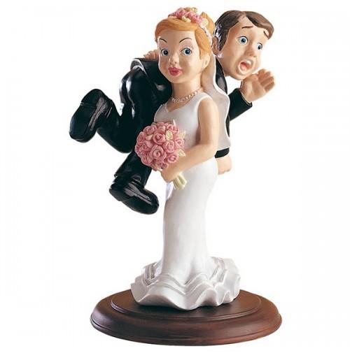 Poročna figura - smešen par 06