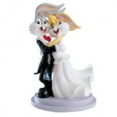 Poročna figura - smešen par / zajčica in zajec