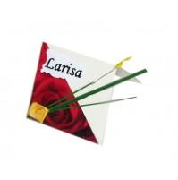 Kartica za sedežni red - rdeča vrtnica 2