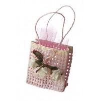 Poročni konfet - vrečka/roza