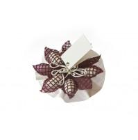 Poročni konfet-bordo-rožica