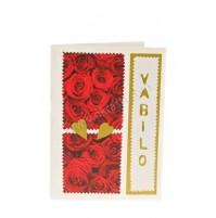 Vabilo - rdeča vrtnica