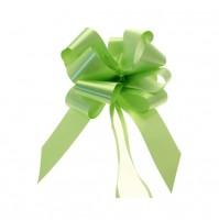 Mašna na poteg - svetlo zelena - velika