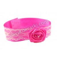 Poročna-zapestnica-pink-vrtnica-unikat