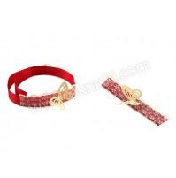 Poročni-komplet-bordo-rdeč-čipka-metuljček