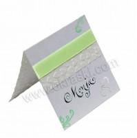 Kartica za sedežni red/zelena - kaligrafija