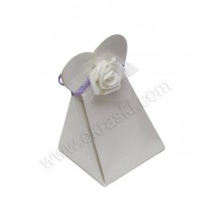 Poročni konfet - lila/vrtnica - srce