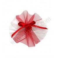 Poročni kotiljon - belo/rdeči