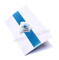 Vabilo - modro/rožica