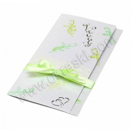 Vabilo - zeleno/kaligrafija