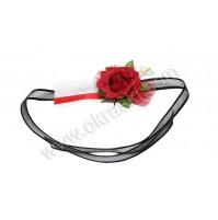 Poročna zapestnica - črno/rdeča