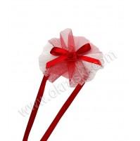 Poročna zapestnica - rdeča/navadna vrtnica
