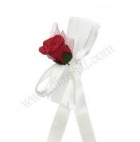 Poročna zapestnica - rdeča/vrtnica 2