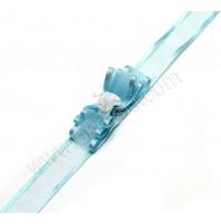 Poročna zapestnica - svetlo modra