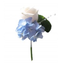 Poročni naprsni šopek 2 - pravo cvetje