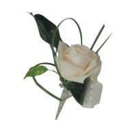 Poročni naprsni šopek 4 - pravo cvetje
