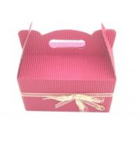 Poročna škatla za pecivo - roza/klasje