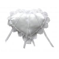 Poročna blazinica - srce/belo