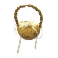 Poročna blazinica v košarici/zlata