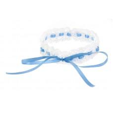 Poročna podvezica - belo/modra 01