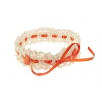 Poročna podvezica - oranžna