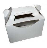 Poročna škatla za pecivo z izrezom - bela