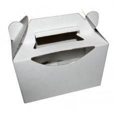 Poročna škatla za pecivo - izrez-bela