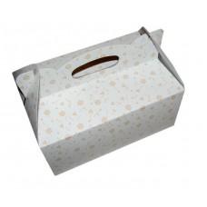Poročna škatla za pecivo - oranžne rožice/manjša