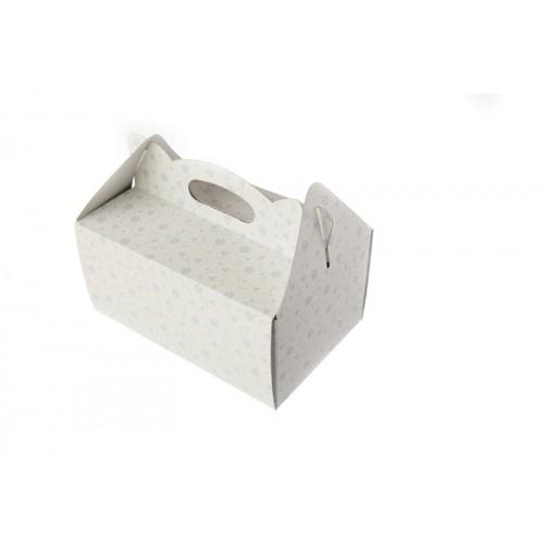 Poročna škatla za pecivo - viola rožice/manjša