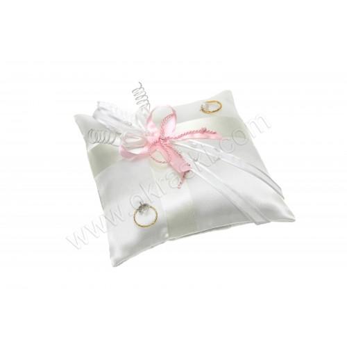 Poročna blazinica - kvadrat /roza