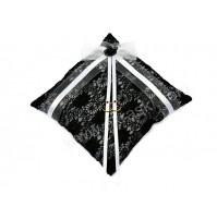 Poročna blazinica - belo-črna/kvadrat