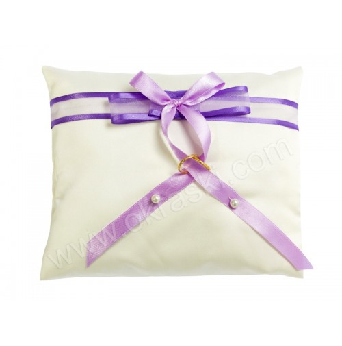Poročna blazinica - lila-vijola/kvadrat