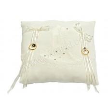 Poročna blazinica - bela/kvadrat - vezenje/swarovski