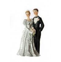 Poročni par - ženin in nevesta/srebrna poroka