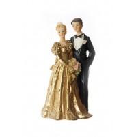 Poročni par - ženin in nevesta/zlata poroka