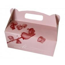 Poročna škatla za pecivo - vrtnica/srednja