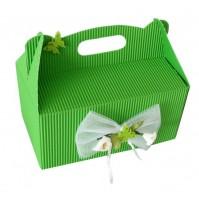 Poročna škatla za pecivo - zelena